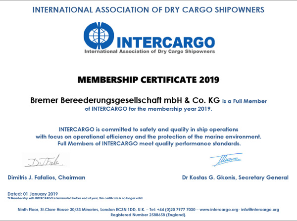 INTERCARGO FULL MEMBER 2018
